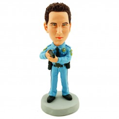 customised policeman bobble head doll