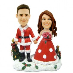 customized christmas bobblehead bride and groom