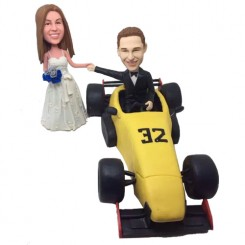 customized f1 face wedding bobbleheads