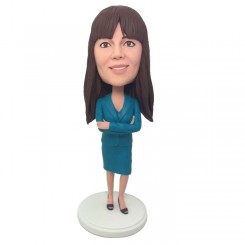 customized female colleague bobblehead