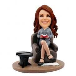 customized female psychologist bobblehead