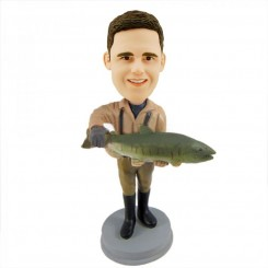 customized fisher bobblehead doll