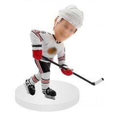 customized hockey bobblehead passing