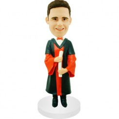 customized male graduation bobble head doll