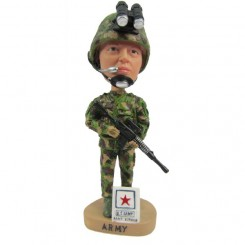 customized marines bobbleheads carrying a gun
