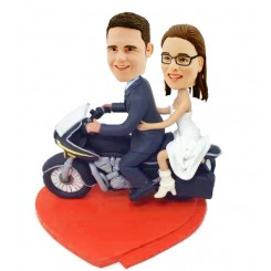 customized motorcycling wedding bobblehead