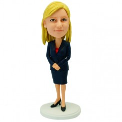customized office lady bobblehead