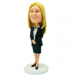 customized office lady bobblehead