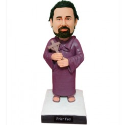 customized priest holding cross bobblehead