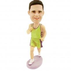 customized running male bobble head doll