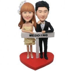 customized wedding bobble head doll
