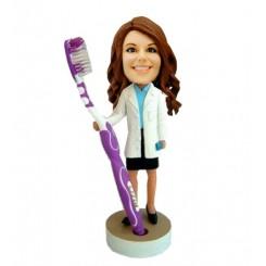 female dentist custom bobblehead
