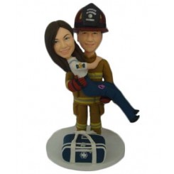 fireman cake toppers personalized