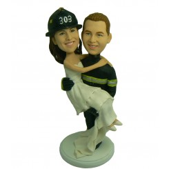 fireman wedding bobbleheads