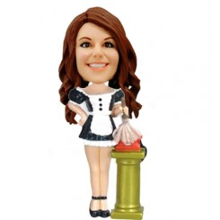 french maid female bobblehead personalized