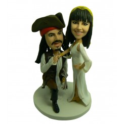 jack sparrow couple bobbleheads