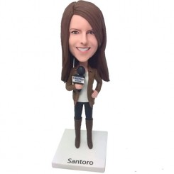 journalist personalised bobblehead