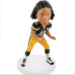 linebacker custom football bobblehead doll