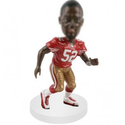 linebacker customized football bobblehead