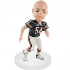 linebackers personalized football bobblehead