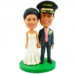 military officer wedding customized bobblehead