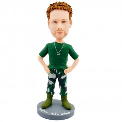 military personalised bobblehead