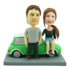 mini couple personalised bobbleheads