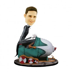 nightmare before christmas nxb snowmobile custom bobblehead