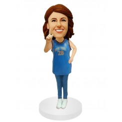 number one famale fan customized bobblehead