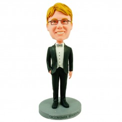 personalised bow tie groomsman bobblehead
