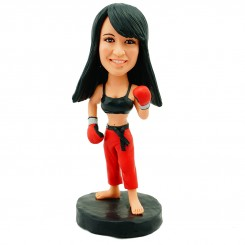 personalised boxing sexy girl bobblehead