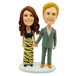 personalised elegant couple bobbleheads