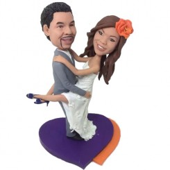 personalised funny jumping on groom bobbleheads