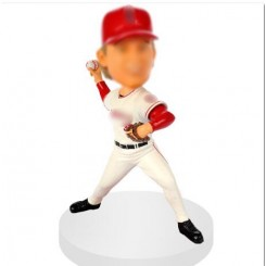 personalised pitching baseball bobblehead
