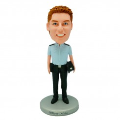 personalised policeman bobblehead doll