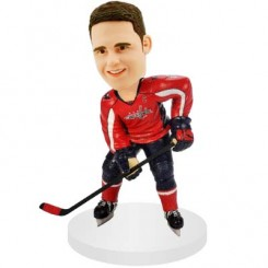 personalised right handed shooting hockey bobblehead doll