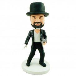 personalised rock and roll bobblehead