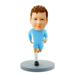 personalised running boy bobblehead