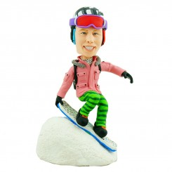personalised skiing custom bobblehead