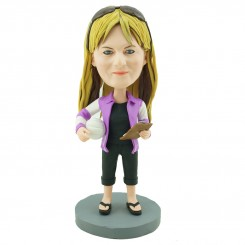 personalised volleyball coach bobble head doll