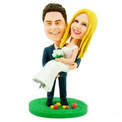 personalised wedding bobblehead cake topper