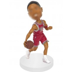 personalized basketball sliding dribble bobblehead