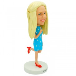 personalized dancing female office lady bobblehead