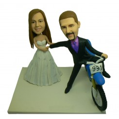 personalized dirt bike coupe bobblehead