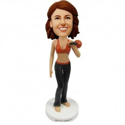personalized famale fitness bobblehead doll
