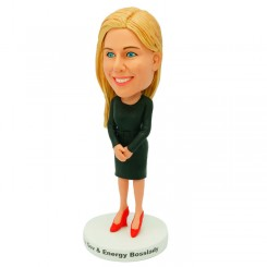 personalized female colleague bobblehead