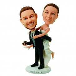 personalized football wedding cake topper