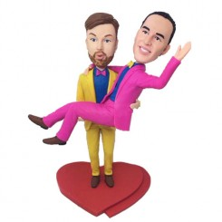 personalized funny male couple bobblehead