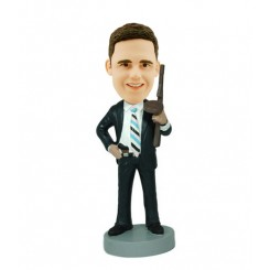 personalized G man bobblehead