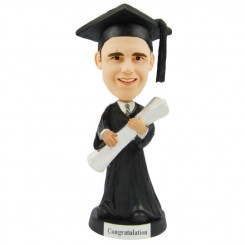 personalized male graduation bobblehead